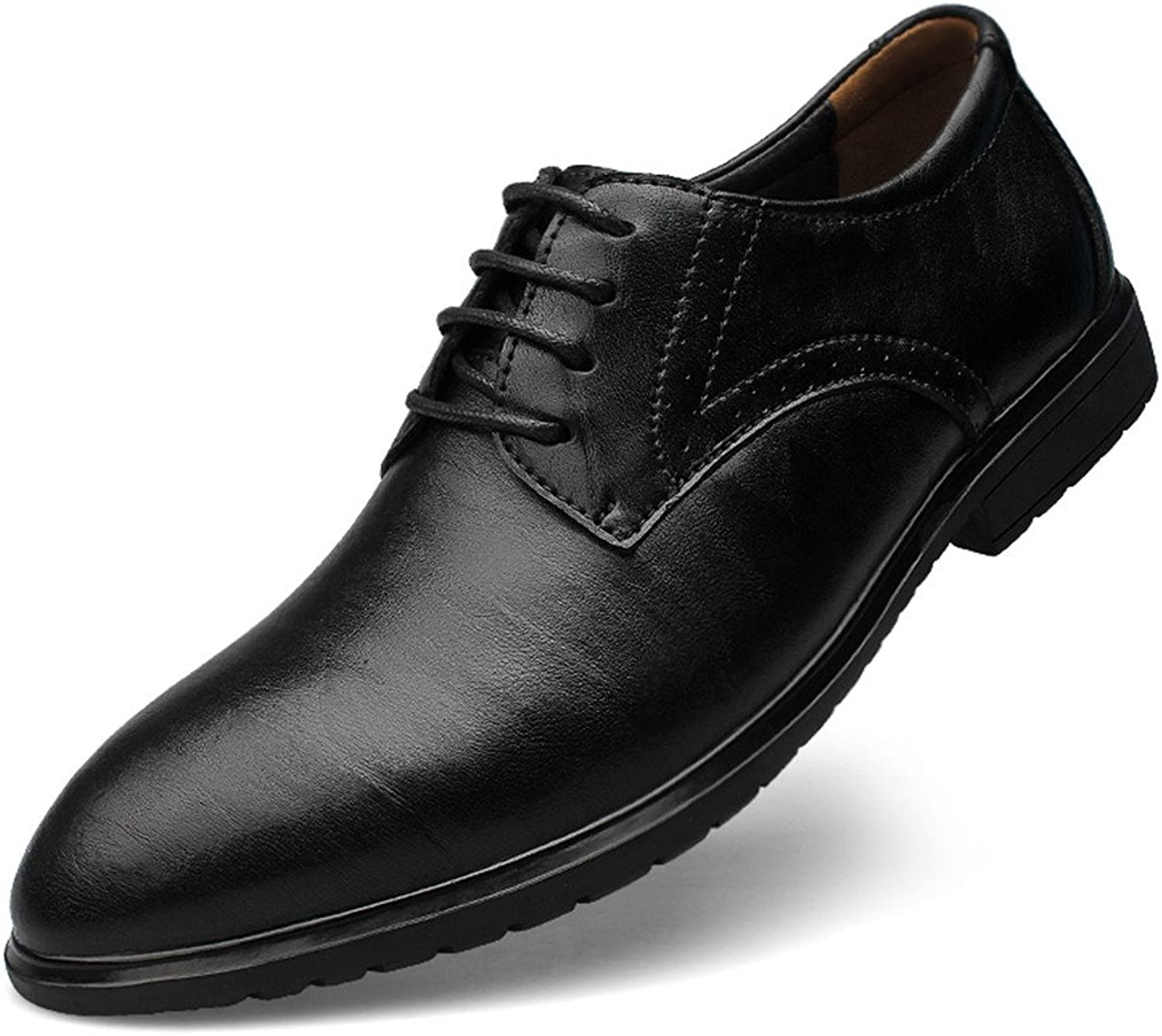 Ailishabroy Men's Fashion Leather Formal shoes Business Lace-up Dress Oxfords