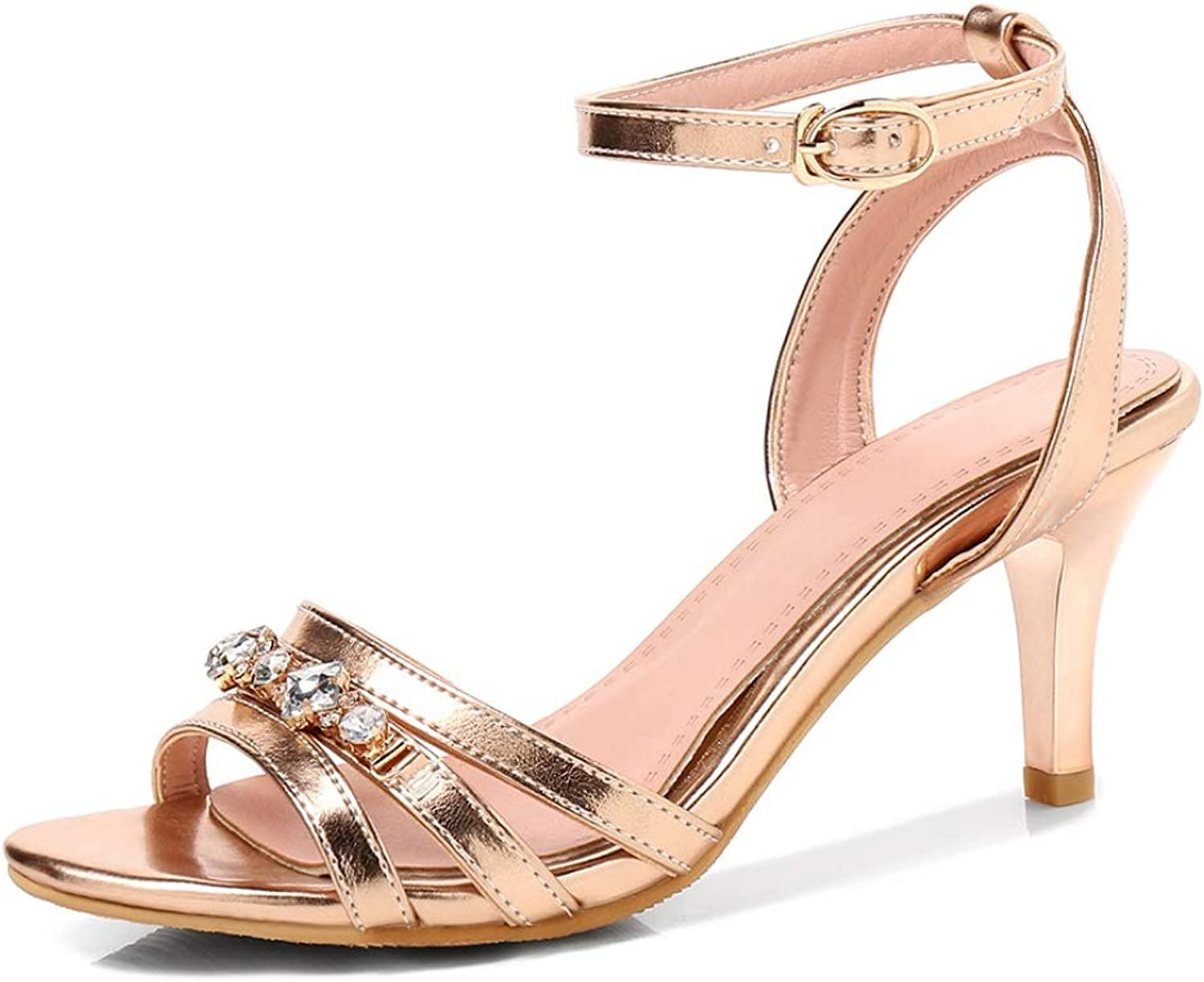 Women Thin High Heels Sandals Ankle Buckle Strap Ladies Elegant shoes Party Wedding Crystal shoes