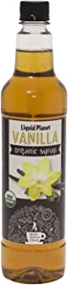 Organic Vanilla Syrup, Vanilla Coffee Syrup, 750 ML from Liquid Planet