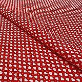 Hans-Textil-Shop Stoff Meterware Aneta Herzen Punkte