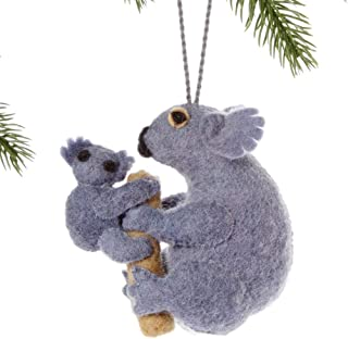 Silk Road Bazaar Koala Felt Holiday Ornament