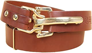 Col. Littleton Genuine Leather Adjustable Belt with Cinch Buckle | Made in USA
