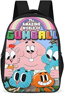 Mochila unisex para niños The Amazing World of Gumball con estampado, con correas anchas y cómodas