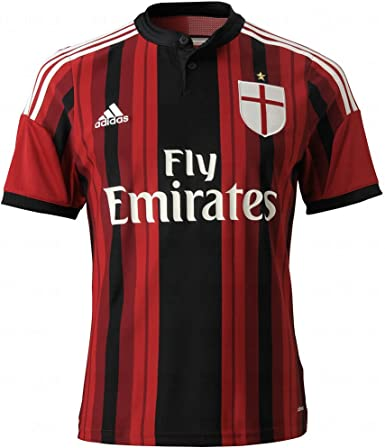 Amazon.com: adidas Youth Climacool Ac Milan 2014/2015 S/S Home ...
