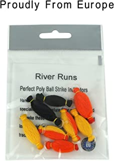 Riverruns 8pcs NF Perfect Strike Indicators Nature Fiber,4 Color 2 Size Hand Tied by European Fly Fishing Specialists,Floating Fly Fishing Nymphs&Dry Fly Quick Use Proudly from Europe
