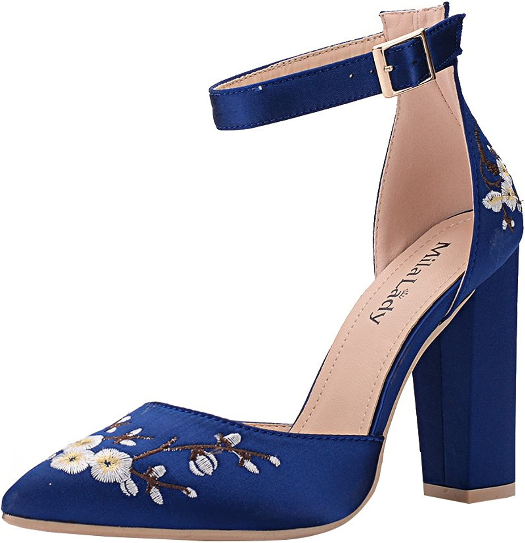 Mila Lady BERYL-08 D'Orsay Classic Ankle Strap Elegance Platform Lady Heels