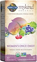 Garden of Life Multivitamin for Women - mykind Organics Women's Once Daily Multi - 30 Tablets, Whole Food Multi with Iron,...