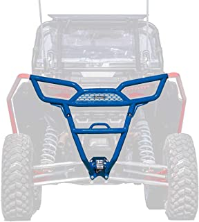 SuperATV Heavy Duty Rear Bumper for Polaris RZR XP 1000 / XP 4 1000 (2014-2018) - Voodoo/Velocity Blue
