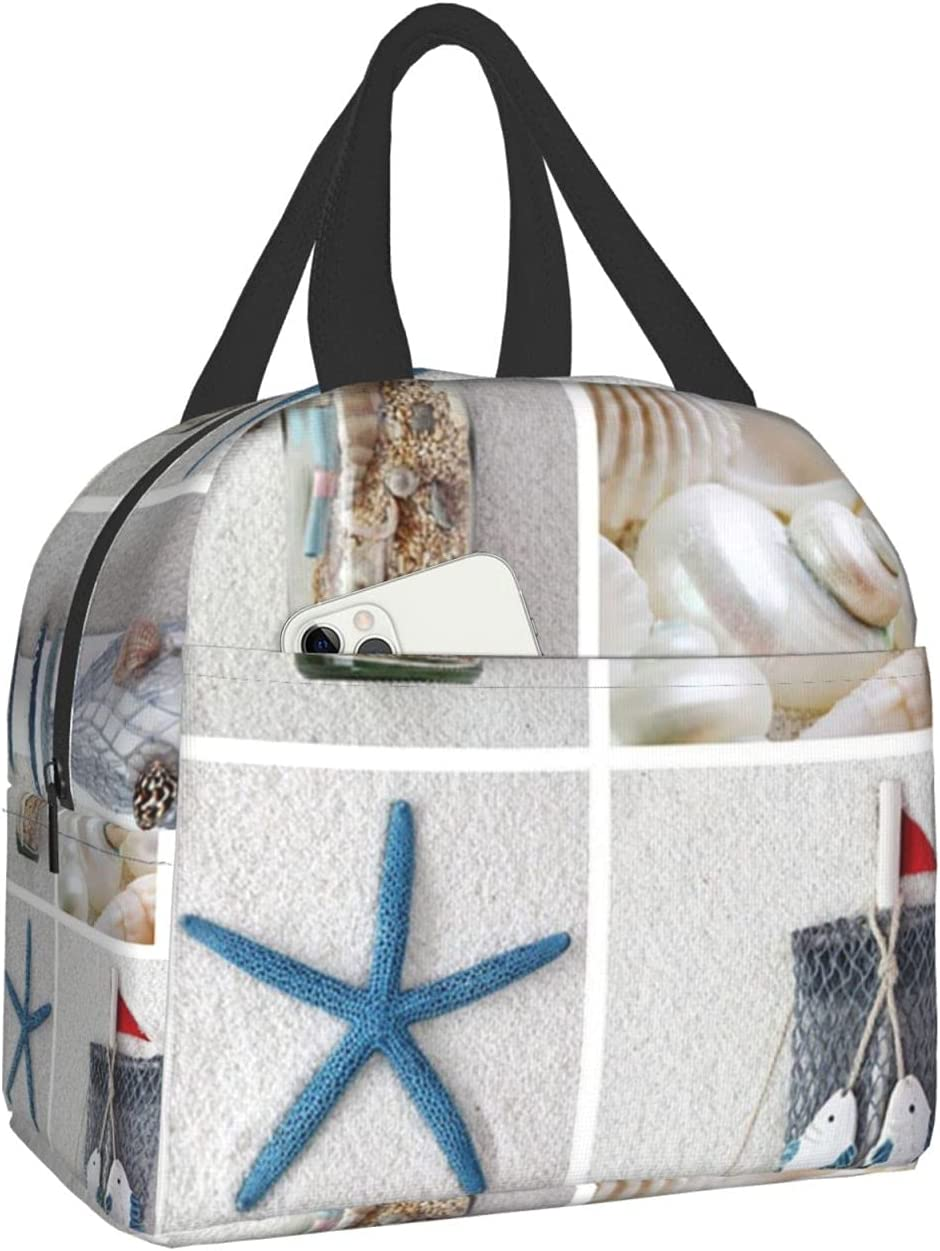 Starfish And Lighthouse Washington Mall Lunch Bag Cooler Tote Women For Box Japan's largest assortment Men