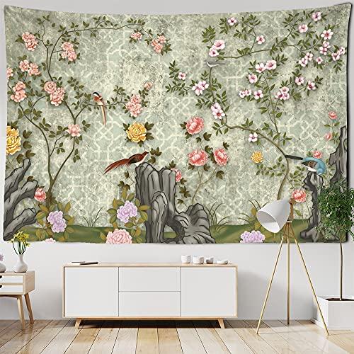 Gedrukt Tapestry Bloemen Groene Planten Muur Opknoping Hippie Mandala Sprei Boheemse Artiest Home Decor Tapestry A17 150x200cm