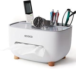 型 ティッシュケース 収納タイプ キッチン/寝室/事務室/浴室/レストラン デスクトップの整理 ティッシュ収納ボックス (グレー)