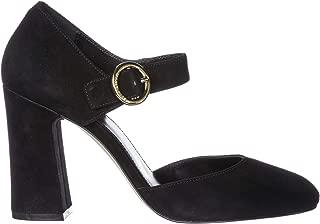 Michael Michael Kors Womens Alana Suede Mary Jane Heels Black 8 Medium (B,M)