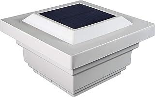 "Classy Caps SL078W Regal PVC Solar Post Cap, 4"" x 4"", White"