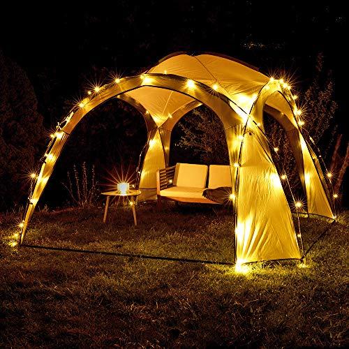 Kingpower Pavillon Solar LED Pavillon Partyzelt Überdach Gartenpavillon Zelt Camping 3,50 x 3,50 m