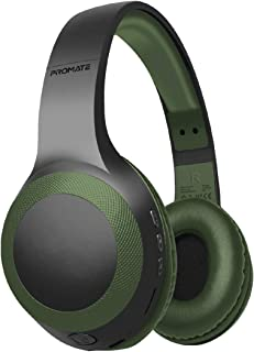 Promate Wireless Headphone, Powerful Deep Bass Bluetooth v5.0 Headphone with MicroSD Playback, 3.5mm Wired Mode, Hi-Fi Ste...