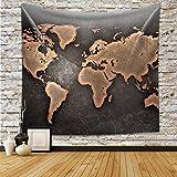 Chengsan Original de la vieja mano de color Mapa del mundo tapicería de la pared 59x90 inch #6