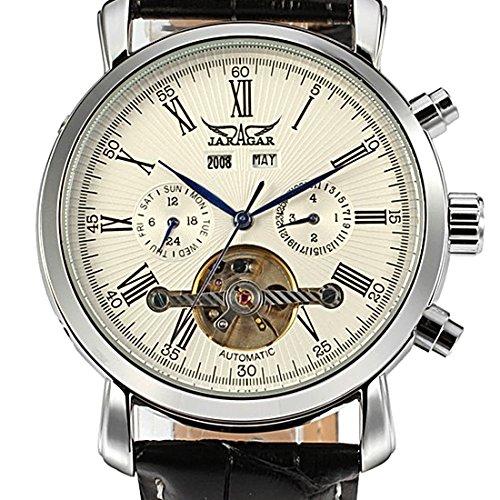 joyliveCY Casual Watch lujoso pulsera de piñones macho automático reloj mecánico