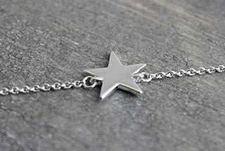 Handmade Sterling Silver Star Charm Bracelet for Women