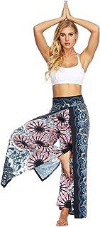 TieNew Womens Harem Trousers Digital Printing Wide Pleat Wrap Pants Boho Hippy Yoga Pants Aladdin Trousers Casual Dance Wi...