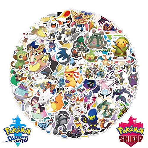 120 PCS The Original Anime Stickers, [Sword and Shield] [New Version] for Personalize Laptop Water Bottle Car Skateboard Luggage Bumper Vinyl Decals - (Series H)