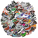 Basketball Shoe Laptop Stickers 100Pcs Pack, Cool Teen Water Bottle Travel Case Computer Wall Skateboard Motorcycle Phone Bicycle Luggage Guitar Bike Stickers Decal