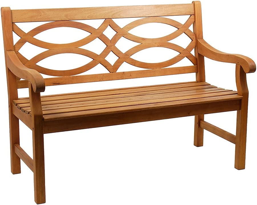 Achla Designs 4-Foot Ranking TOP8 Ranking TOP15 Hennell Garden Bench Natural