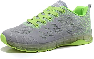 PAMRAY Women's Tennis Shoes Athletic Running Sport Sneakers Lightweight Walking Gym Breathable US 4-8.5