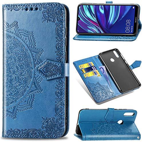 KISCO para Huawei P Smart Z Funda,PU Cuero Multifunción Wallet Stand Protección Integral Flip Case con Ranuras Funda para Huawei P Smart Z
