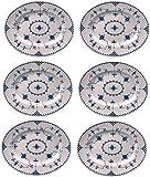 Johnson Bros - Juego de 6 platos ovalados (30 cm), color azul