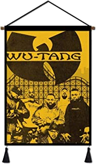Wu Ta-ng Clan Hanging Poster Portable Canvas Painting Scroll Wood Hanger Home Wall Decor Ready to Hang 18 x 24