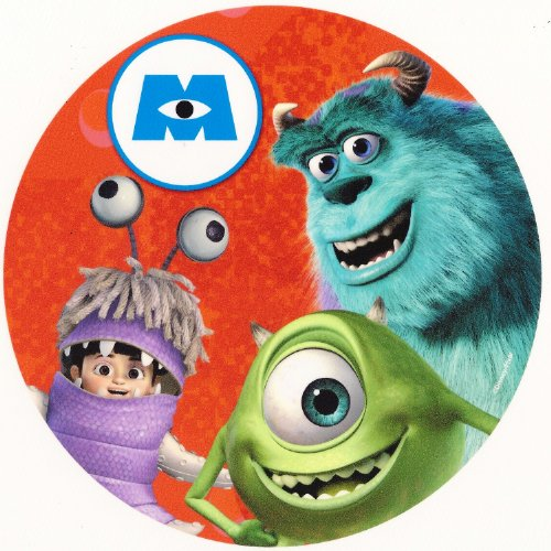 Monsters Inc. Sully & Boo ~ Edible Image Cake / Cupcake Topper!!! (8' Round Cake)