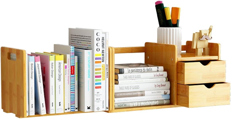 Envio gratis en todas las ordenes MKJYDM Estantería Estantería para Niños Mesa telescópica de bambú bambú bambú Pequeña estantería Madera Color 80-51x20x20cm librero  exclusivo