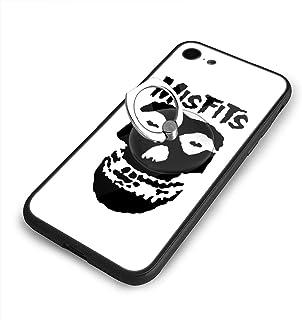 Misfits Band IPhone8 ケース IPhone7 ケース 背面ガラス+TPUバンパー 超薄超軽量 おしゃれ 指紋防止 一体型 人気 耐衝撃 すり傷防止 超耐久 スマホケース