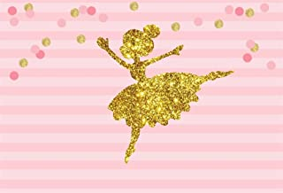 OFILA Ballet Girl Backdrop 5x3ft Girls Birthday Party Decoration Dance Troupe Portraits Girls Birthday Photography Background Dance Class School Events Shoots Video Room Decor Props