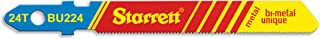 Starrett BU224 Bi-Metal Unique Unified Shank Metal Cutting Jig Saw Blade, Regular Tooth, 0.040
