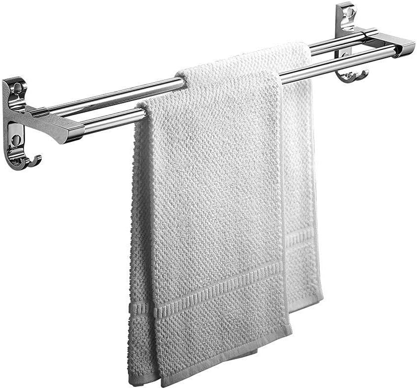 LUCY STORE Bathroom shelves Mail order cheap Stainless Rac Towel Double Steel Time sale Rod