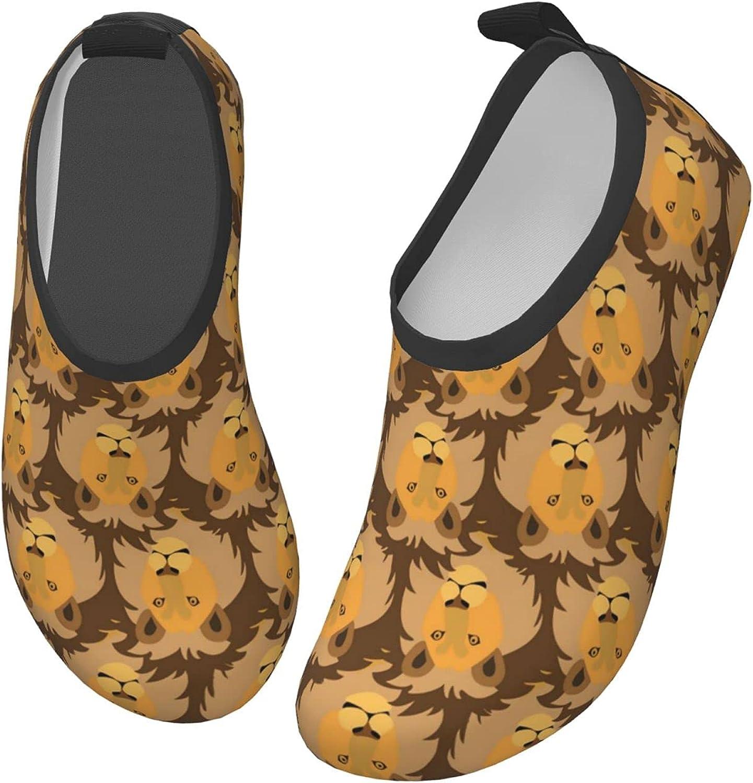 YTPass Kids Surf Water Shoes Anti Slip Quick Dry Cute Baby Nursery Design Sweet Llamas Barefoot Aqua Shoes for Boys & Girls