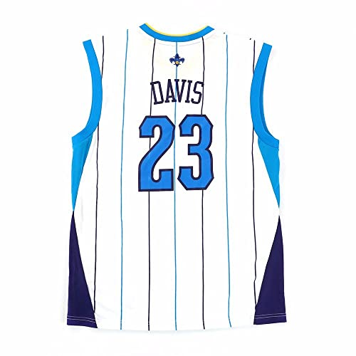 6bce80ad3 adidas Anthony Davis Orleans Hornets NBA Men s White Official Replica Jersey