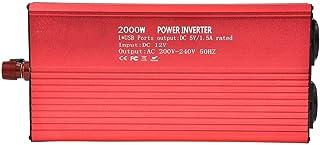 Fdit Inverter A Onda Sinusoidal Pura convertidor 12V V 2000W Power Inverter con Panel Solar Inverter Sine Wave Inverter DC 50/60HZ Solar Conversor para Uso doméstico