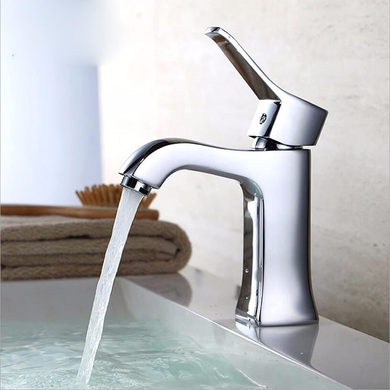 Lvsede Bad Wasserhahn Design Küchenarmatur Niederdruck Kupfer Verchromt Einfache Spüle Einloch-Warm- Und Kaltwassermischbecken L4744