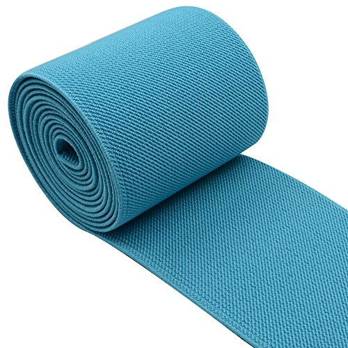 iCraft 3-Inch Wide by 2-Yard Colored Woven Elastic Band,Baby Blue13020