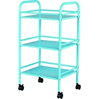 Staples 3 Shelf Rolling Cart (Light Blue)