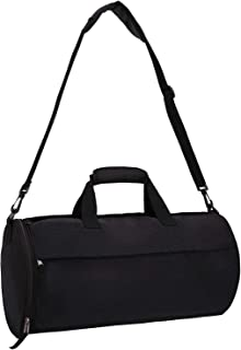 Small Gym Bag for Men Women Carry On Duffel with Wet Pocket,YKK Zip, 20 Inches, Black