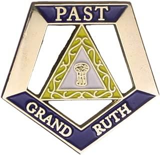 Hattricks Goodimpression OES Eastern Star Past Grand Ruth One Inch Jewel Lapel Pin