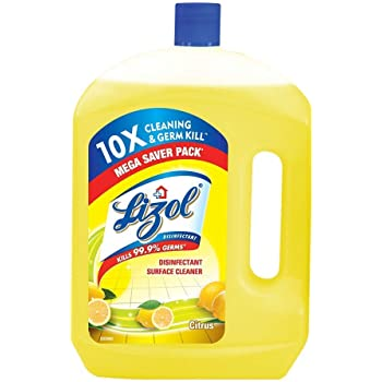 Lizol Disinfectant Surface & Floor Cleaner Liquid, Citrus - 2 L