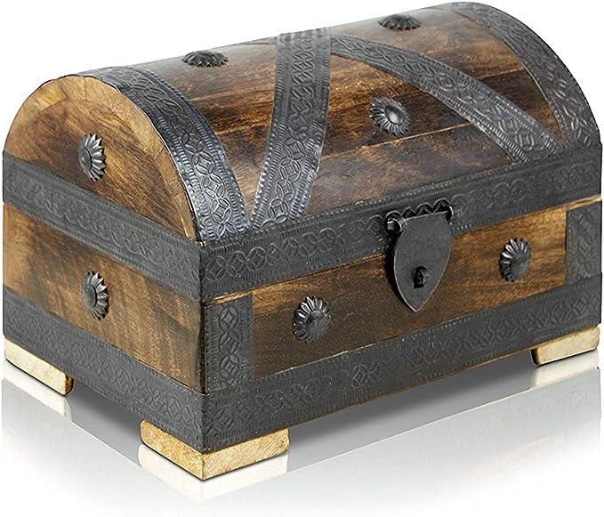 3333 opinioni per Brynnberg Scrigno del Tesoro con Lucchetto Vintage Bauletto Stile Antico per