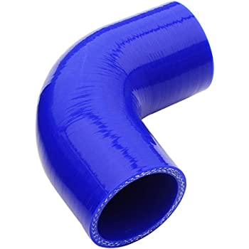 90mm Black 5mm 80 PSI Maximum Pressure Universal Automotive Pure Silicone Hose 4-Ply Reinforced ID 3.15 Leg Length 3.5 ,45 Degree Elbow Coupler Wall Thickness 0.2 No Logo 80mm