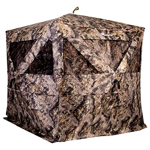 Ameristep Pro Series Thermal Hub Blind | 4 Person Insulated Hunting Blind Designed for Cold Weather in Mossy Oak Elements Terra, AMEBF1009, One Size