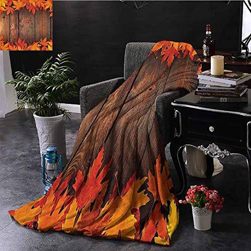 GGACEN bont deken bladeren boom Diagonale bladeren gebladerte rustieke houten planken Valentijnsdag hem afdrukken super zacht imitatie bont pluche decoratieve deken