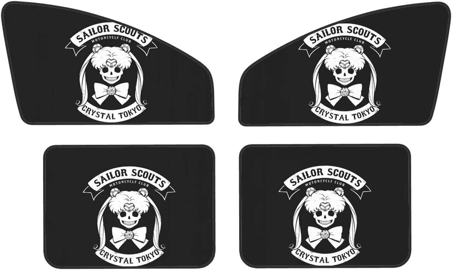 Anime Sai-lor Mo-on Car Sun Shades for Window Rear 4 P Detroit Mall Sale price Side and